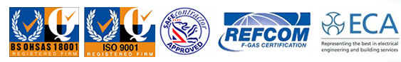 BS OHSAS 18001, ISO 9001, Safe Contractor Approved, Refcom, ECA